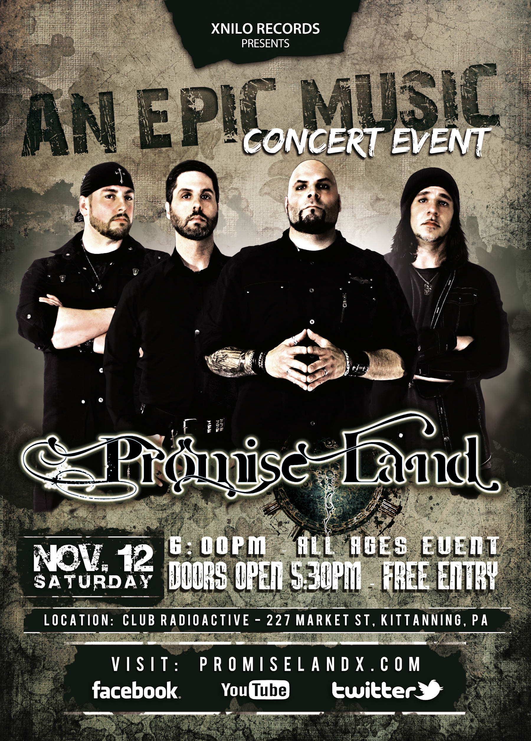 Promise Land - Live at Club Radioactive - November 12 2016